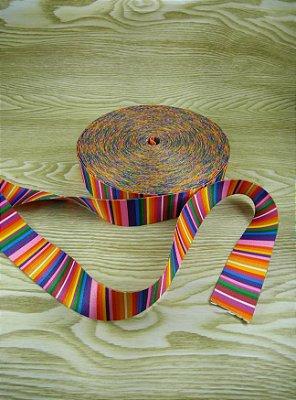 Alça Chic Para Bolsa de Poliéster Arco Íris - 4 cm - Preço de 4cm x 50cm