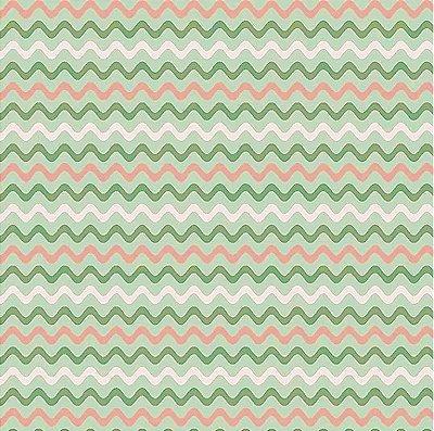 Tecido Tricoline de Sianinha Verde - Coleção Fashion - Preço de 50 cm x 140 cm
