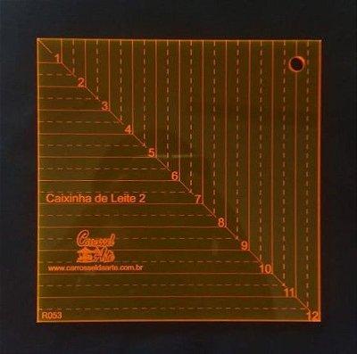 Régua de Gabarito para Caixa de Leite - De 1 cm a 12 cm