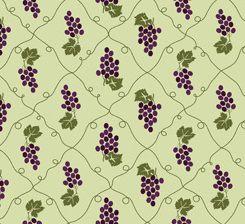 Tecido Tricoline Cacho de Uvas - Fundo Verde - Coleção Fruits - Preço de 50 cm x 150 cm