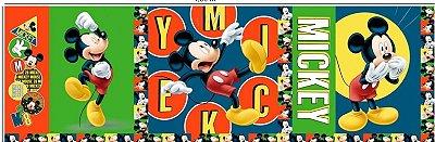 Tecido Digital Painel Mickey Colorido - Coleção Disney - Preço de 43 cm x 150 cm