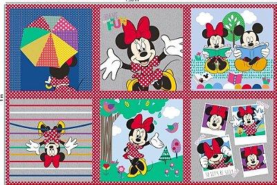 Tecido Digital Painel Minnie Funny - Coleção Disney - Preço de 98 cm x 150 cm