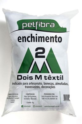 Fibra Virgem Siliconada ou Enchimento - Preço de Pacote de 1 Kilo