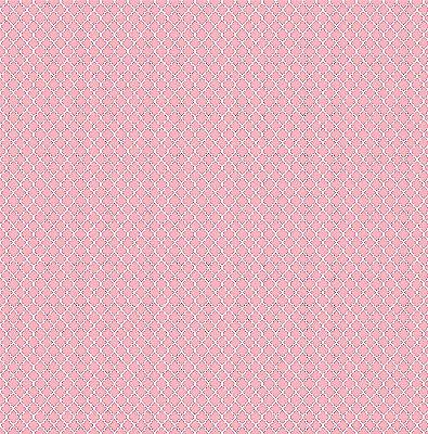 Tecido Tricoline Mini Vitral Treliça - Rosa Pink - Preço de 50 cm x 150 cm