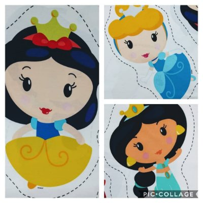 Tecido Digital Naninha Princesas Disney Baby 1 - Branca de Neve, Cinderela ou Jasmine - Vendidas Separadamente