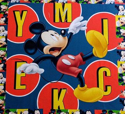 Tecido Digital Painel Mickey Colorido - Coleção Disney - Preço de 40 cm x 40 cm