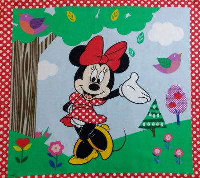 Tecido Digital Painel Minnie Funny - Coleção Disney - Preço de 40 cm x 40 cm