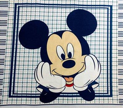 Tecido Digital Painel Mickey Navy - Fundo Azul - Coleção Disney - Preço de 40 cm x 40 cm