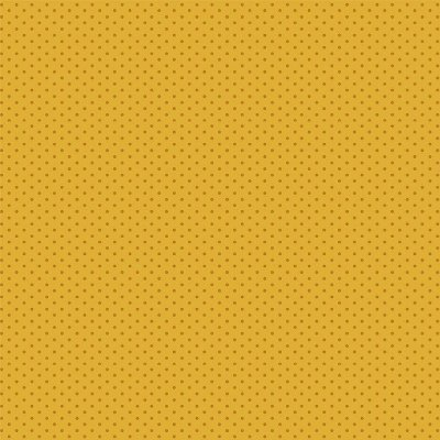 Tecido Tricoline Micro Poá Marrom - Fundo Mostarda - Preço de 50 cm x 150cm