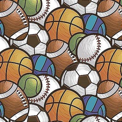Tecido Digital Multi Bolas Esportes - Preço de 50 cm x 140 cm