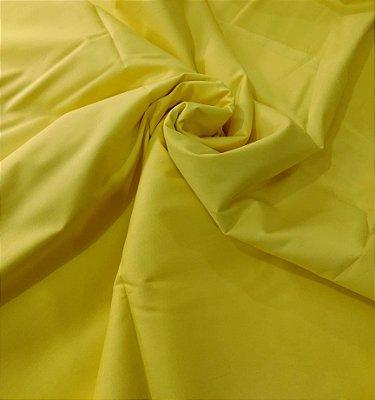 Tecido Tricoline Lisa Amarelo Canário - Preço de  50 cm x 150 cm
