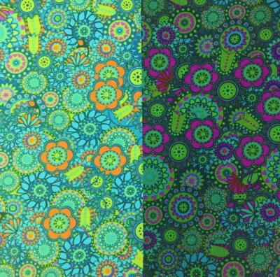 Tecido Digital Sandias Faixas Degradê Esmeralda - Preço de 50 cm x 150 cm