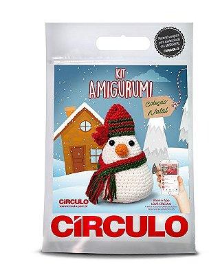 Kit Amigurumi - Coleção Natal - Boneco de Neve