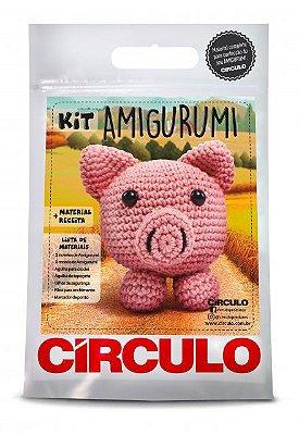 Kit Amigurumi - Coleção Bichinhos - Porco