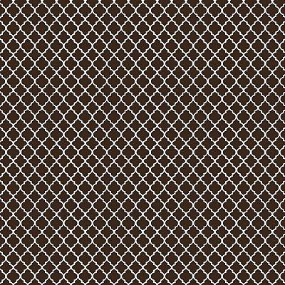 Tecido Tricoline Mini Vitral Treliça - Fundo Marrom - Coleção 1 - Preço de 50 cm x 150 cm