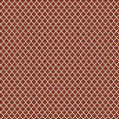Tecido Tricoline Mini Vitral Treliça - Fundo Ferrugem - Coleção 1- Preço de 50 cm x 150 cm