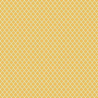 Tecido Tricoline Mini Vitral Treliça - Fundo Amarelo - Coleção 1- Preço de 50 cm x 150 cm