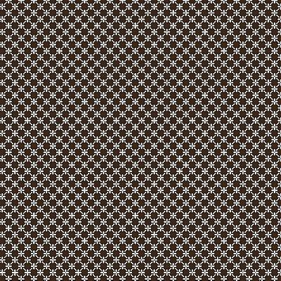 Tecido Tricoline Cerca de Flores - Fundo Marrom - Coleção 1 - Preço de 50 cm x 150 cm