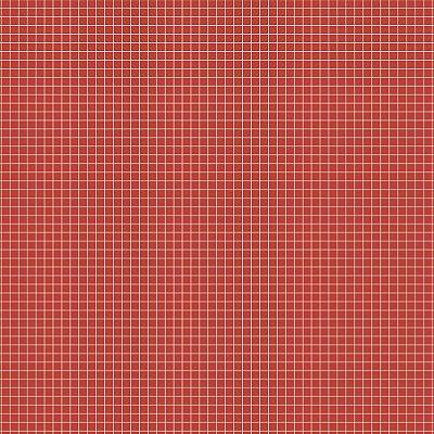 Tecido Tricoline Quadradinhos - Fundo Tomate - Preço de 50 cm x 150 cm