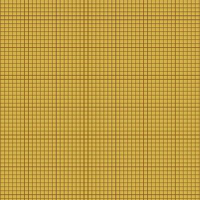 Tecido Tricoline Quadradinhos - Fundo Mostarda - Preço de 50 cm x 150 cm