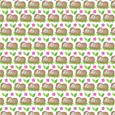 Tecido Tricoline Bicho Preguiça na Folha - Coleção Bicho Preguiça - Preço de 50 cm x 150 cm