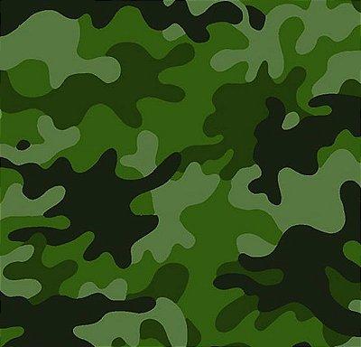 Tecido Tricoline Camuflado Tons de Verde - Preço de 50cm x 150cm