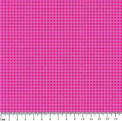 Tecido Tricoline Micro Pied De Poule Rosa Pink - Coleção 2 - Preço de 50 cm x 150cm