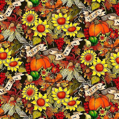 Tecido Tricoline Digital Outono - Coleção Fall - Preço de 50cm x 150cm