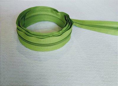 Zíper Grosso nº 5 (3 cm) - Verde Pistache - Preço de 50cm