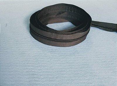 Zíper Grosso nº 5 (3 cm) - Cinza Rato - Preço de 50cm