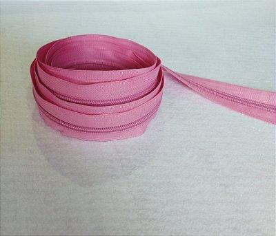 Zíper Grosso nº 5 (3 cm) - Rosa Chiclete - Preço de 50cm