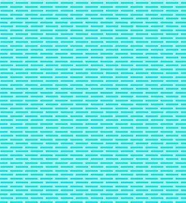 Tecido Tricoline Tijolinhos - Fundo Tiffany - Preço de 50cm x 150cm