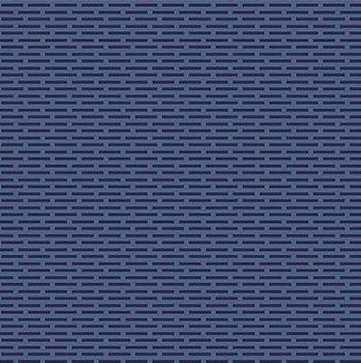Tecido Tricoline Tijolinhos - Fundo Azul Marinho - Preço de 50cm x 150cm