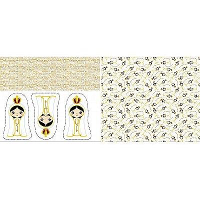 Tecido Tricoline Almofada - Nossa Senhora de Fátima - Preço de 60 cm x 150 cm