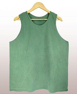 Regata estonada verde - Sendo mais de 20 peças, usar o cupom (5000) para o valor de atacado de R$ 19,90 por depósito.