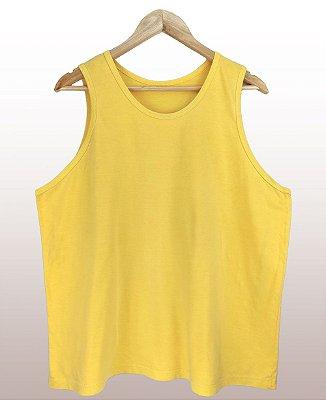 Regata estonada amarela - Sendo mais de 20 peças, usar o cupom (5000) para o valor de atacado de R$ 19,90 por depósito.
