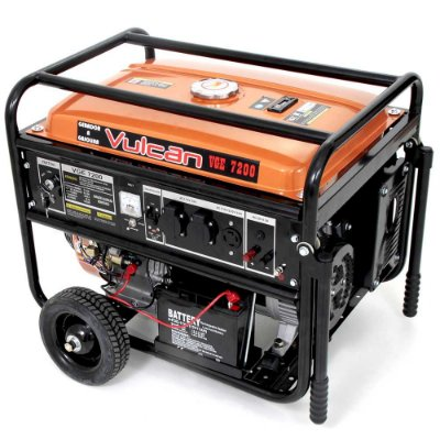 Gerador Elet.7200 Watts Gas Com Partida (Vulcan)