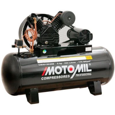 Compressor 20/200L 175Lbs 5Hp Trifásico 220/380V