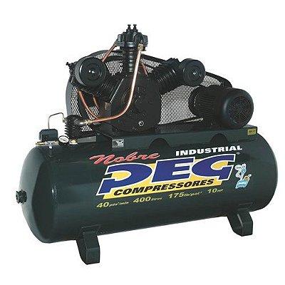 Compressor de Ar 40 Pés 415 L Trifásico Alta Pressão PEG