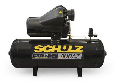 Compressor Audaz 20 Pés 200 Litros 5hp Trif Mcsv20ap Schulz