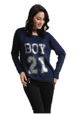 QUEENS tricot boy marinho
