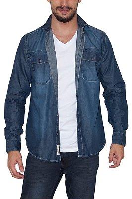 PENGUIN camisa jeans escuro
