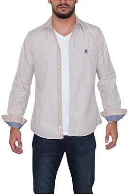 PENGUIN camisa social bege