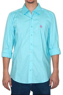 PENGUIN camisa azul piscina