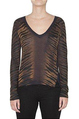 OPERA ROCK blusa zebra linho