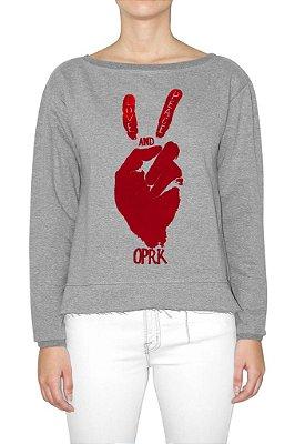 OPERA ROCK moletom paz e amor