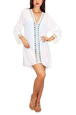 SALINAS vestido renda branco