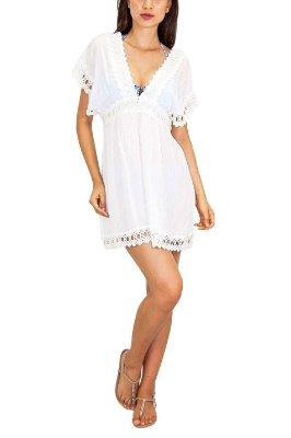 SALINAS vestido decote V