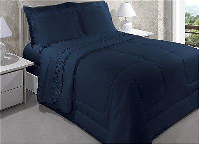 Fronha 200 Fios Vida Bela Azul Taurus 50x70cm - Kacyumara