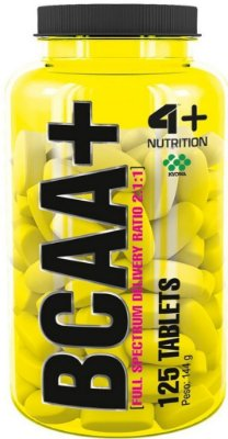 BCAA+ 2:1:1 1000mg (125tabs) - 4 PLUS NUTRITION